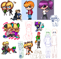 Commission Examples (Prices are on my page) by EmmyIzawa