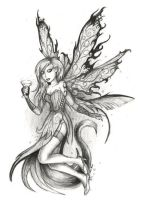 ABSINTHE FAIRY - no colour by beanarts