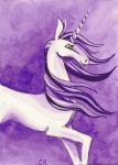 Purple Unicorn by tee-kyrin