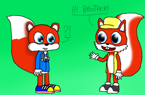 Conker meets Mr. Nutz by MagicFool64