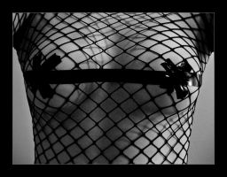 Fishnet and Electrical Tape by -basketcase-