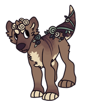 Feral Chibi Commission by Crocodiie