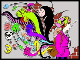 Boogie Bag Line Colored by worldwarlawrence
