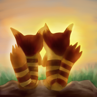 Furrets, Sunset by PsychoticFlare