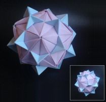 Icosahedron with elements by lonely--soldier