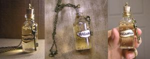 Vial of Veritaserum - Harry Potter Necklace by EsaNany