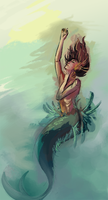 Sketch Daily - Mermaid by katiepox