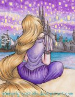 Disney: Rapunzel And Lanterns by kimberly-castello