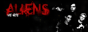 We are Aliens Facebook Cover by DysfunctionalHuman