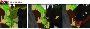 Train your Dragon in 3 Panels by Cilmeron