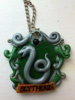 Slytherin Necklace by YumyumHolmes