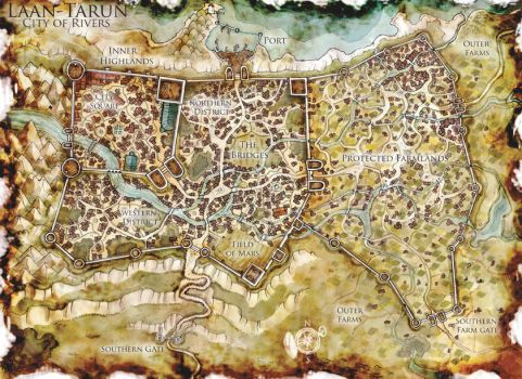 DnD Map: The City of Bridges by Stormcrow135