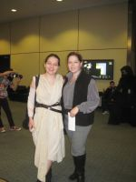 Rey and Leia by JMCosplay