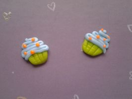 Sweet Muffins earrings by LifeIsSucking
