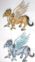 young hippogriff adoptables  -closed- by Hveits