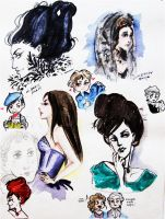 Mozart Sketches by Fraulein-Maria