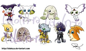 Digimon Stickers by idolnya