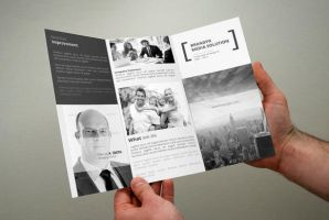 Creative White Trifold Brochure by calwincalwin