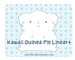 P2U Guinea Pig Lineart by Sarilain