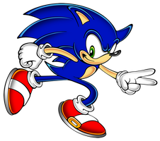 Sonic run sa style by megax88