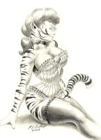 Victorian Tiger Woman by RJBartrop