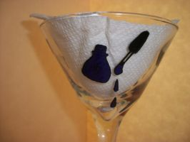 Martini Glass Painted With Nail Polish Bottles 3 by QueenAliceOfAwesome