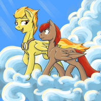 Maple Leaf and Spitfire by Geomancing