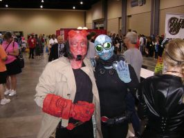 Hellboy and Abe sapien cosplay by Robot001