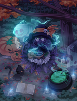 Happy Halloween 2012 by Chibi-Nuffie