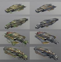 Smugglers Ship Camouflage sketches by anthon500