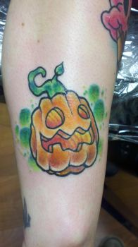 pumpkin tattoo by evldemon