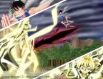 Luffy vs The Lord of Nightmares by tbone111