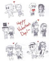 Dumb Valentine's Doodles by SonicFan3