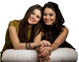Selena gomez and Vanessa hudgens png by flawlessduck
