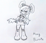 B-Day Gift: May Bunnie Sketch by moralde10
