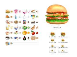 Food Icon Library by Ikonod