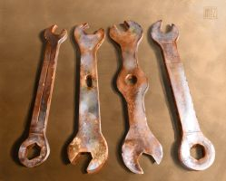 Rusty Old Wrenches by muzski