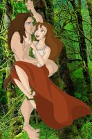 Tarzan and Jane by x-pisa-cake-x