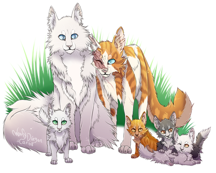 Cloudtail X Brightheart by WoofyDragoncat68