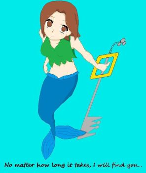 Sara in mermaid form by fluffykittycats