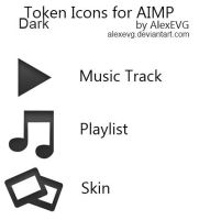 Token Dark Icons for AIMP by AlexEVG