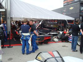Action Express DPs and Drivers in the Pit Area by IndyHorizon
