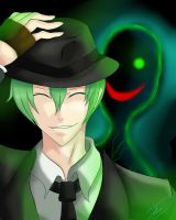 Hazama and Terumi by SaroTheHedgehog