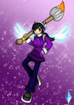 My new appearence of my artwork and MMZX version by CrystalViolet500