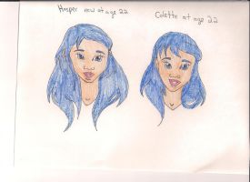 Hasper and Colette her mother at age 22 by Bellawho1