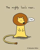 Mighty Lion's Roar and shirt question by sebreg