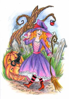 Little witch by Guericke