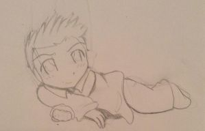 Dean chibi WIP by TheNeonUmbreon