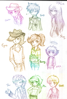 OCs sketches by firehorse6