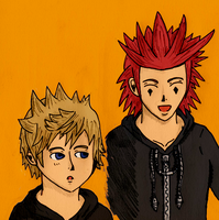 Walk - Axel and Roxas by Cyril-L-Valentine